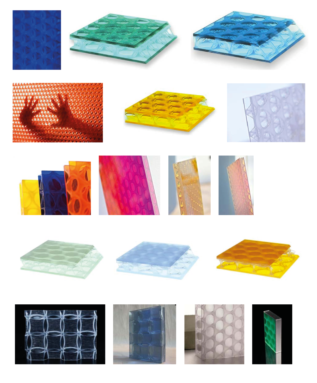 ukázky materiálů Design Composite